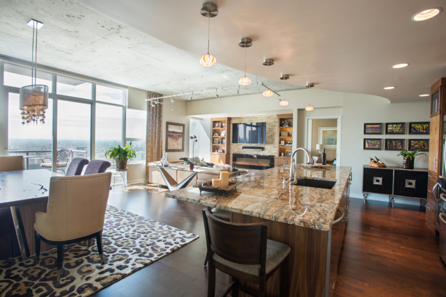 Denver Interior Design Photography Spire High Rise Condo