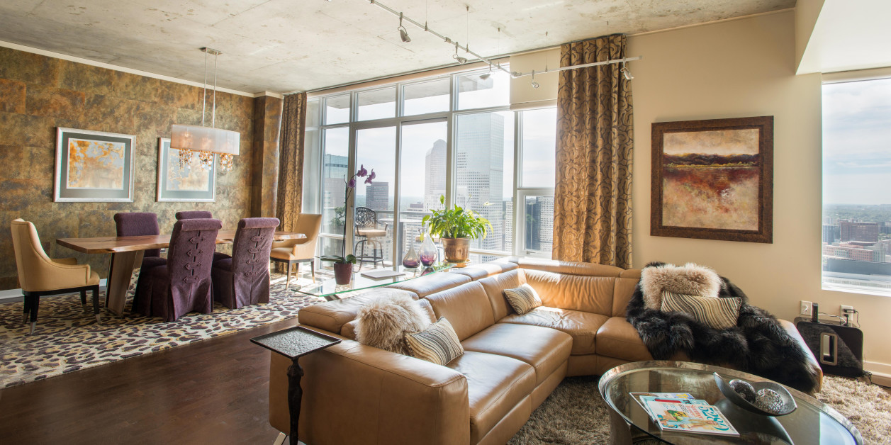 Denver Interior Design Photography Spire HighRise Condo L H P