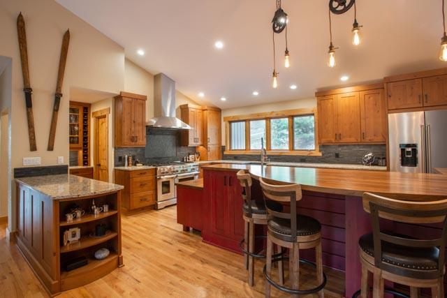 Interior Photography Cozy Colorado Mountain Kitchen From
